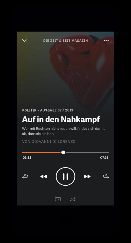 iPhone ZEIT Audio-App play