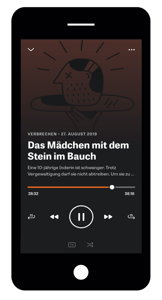 iPhone ZEIT Audio-App-podcast play