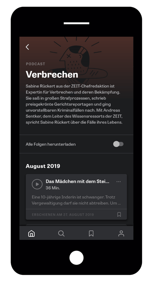 iPhone ZEIT Audio-App-podcast Tracklist