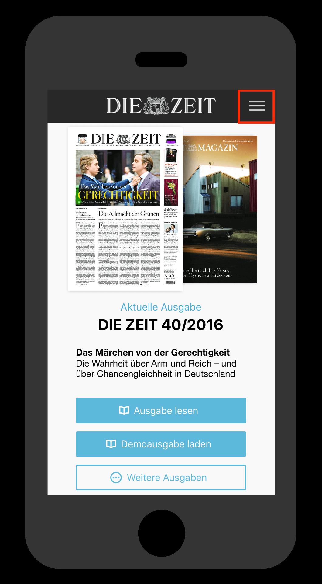 iPhone ZEIT E-Paper-App wo finde ich die App-ID